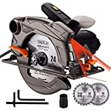 TACKLIFE 1500W 4700RPM Scie Circulaire, 2 Lames Ø185mm...