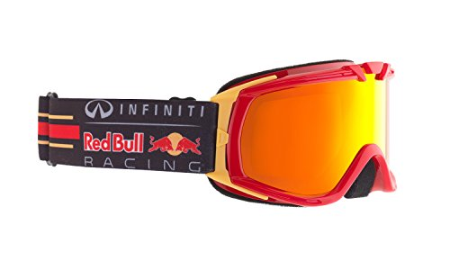 Red Bull Racing Eyewear, Paddock, occhiali da sci per bambini, 012 shiny red race / fire race