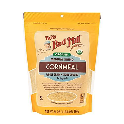 Bob's Red Mill Organic Cornmeal Medium, 24 oz, 2 pk