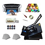 Heat press machine +transfer paper +transfer PU vinyl +Printer +...
