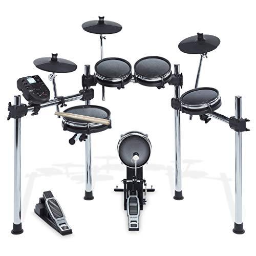 Alesis Surge Mesh Kit - Batería electrónica, kit de 8 peisas con malla cabezas, 10' de tambor, 8' Toms, 8' Kick, 25.4cm platillos