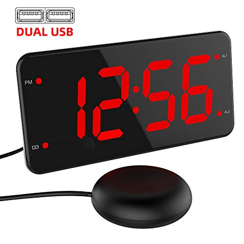41qLd5gqpAL - Best Alarm Clock for Deaf In 2020