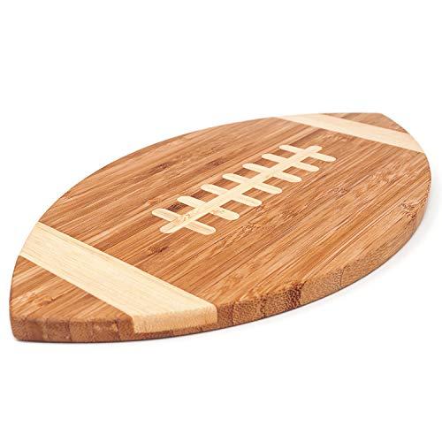 40YARDS American Football Brettchen aus Bambus-Holz für Frühstück, Abendbrot oder als...
