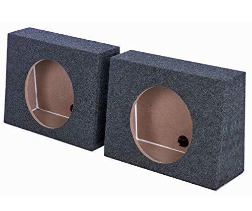 (2) Q-POWER QTW10 Single 10' Sealed Car Audio Subwoofer Sub Box Enclosures Pair