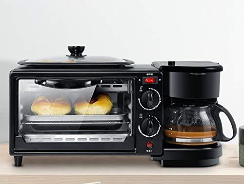Mini-Toaster 3 In 1 Elektrische Frühstücksmaschine Multifunktionskaffeemaschine Bratpfanne Mini Ofen Haushaltsbrot Pizzaofen