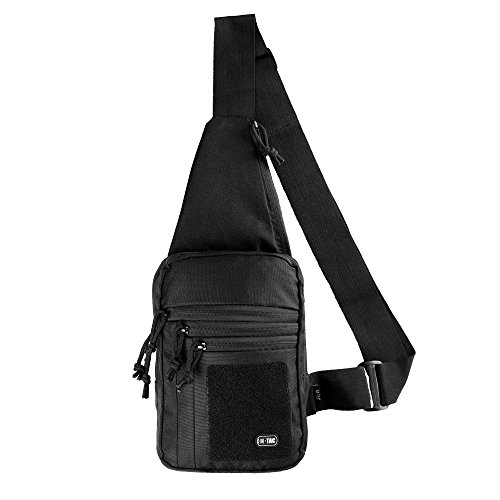 M-Tac Tactical Bag Shoulder Chest Pack with Sling for Concealed Carry of Handgun (Black)