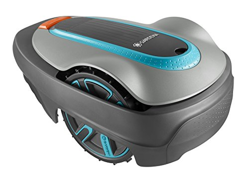 Gardena 15300-47 Robot Tosaerba Sileno City 300 Set, Grigio Scuro/Grigio Chiaro/Turchese/Arancione, Fino m