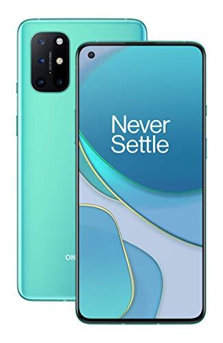 OnePlus 8T Smartphone 6.55 '120 Hz FHD + Display Fluido, 8 GB di RAM + 128 GB di Spazio di Archiviazione, Quad Camera, 65 W Warp Charge, Dual SIM, 5G, Aquamarine Green