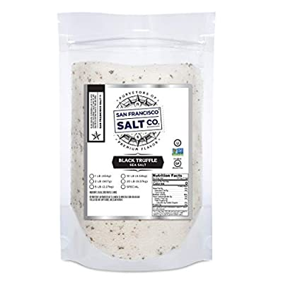 SALTY, EARTHY, RICH FLAVOR - Pristine Sea Salt infused with black truffles from the Abruzzi region of Italy to add savory, gourmet wonder to your dishes. Hand Crafted in the USA. A SEA SALT BLEND THAT'S BURSTING WITH FLAVOR – With a sprinkle of salt ...