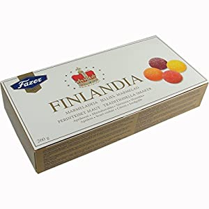 Fazer Finlandia Marmelade Jellies 4 Traditional Flavors Apricot, Black Currant, Lemon, and Strawberry