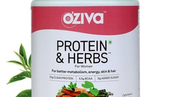 OZiva Protein Herbs For Women, Whey Protein Shake With Ayurvedic Herbs, Cafe Mocha, 16 Servings, 0g added Sugar