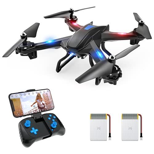 S5C 720P Drone con Telecamera HD FPV, Quadricottero WiFi Un Pulsante Decollo e Atterraggio, G-sensore, 3D Flip, Funzione di Hovering, Adatto ai Principianti e Bambini