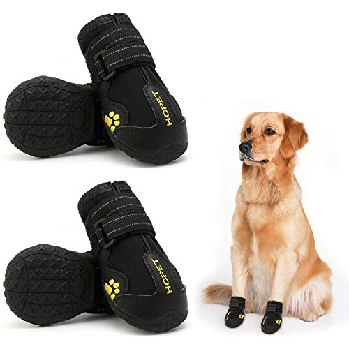 Hcpet Dog Boots Waterproof with Reflective Straps,...