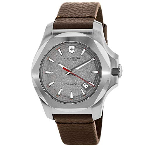 Victorinox Swiss Army Unisex Analog Quarz Uhr mit Leder Armband 241738