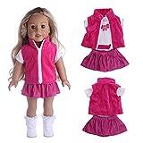 kingko Accessoire de Robe de poupée de Jouet d'accessoire de Fille de 18 Pouces pour la poupée américaine de Fille poupée Robe+poupée châle Filles des États-Unis (Multicolor)