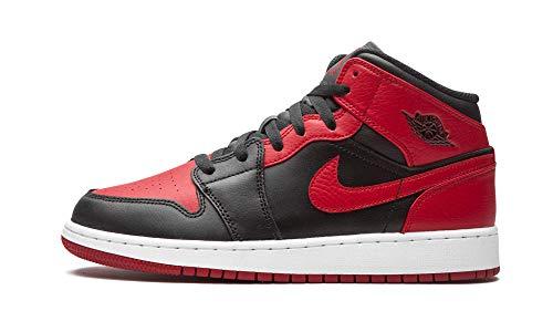 Nike Air Jordan 1 Mid (GS), Zapatillas de bsquetbol, Black G