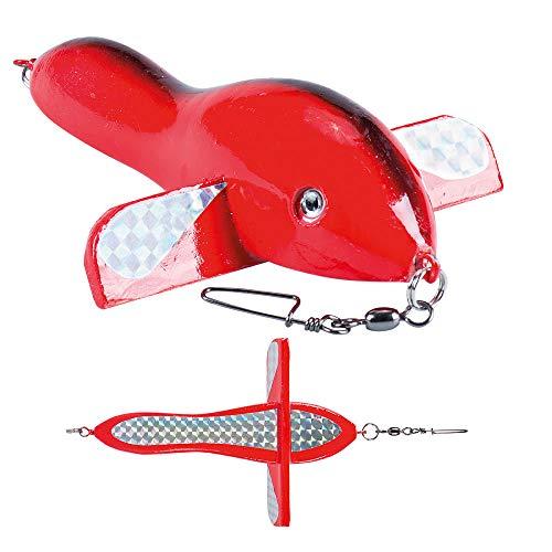 Sugoi AIRFISH Aereoplanino di richiamo traina al tonno 20cm Rosso