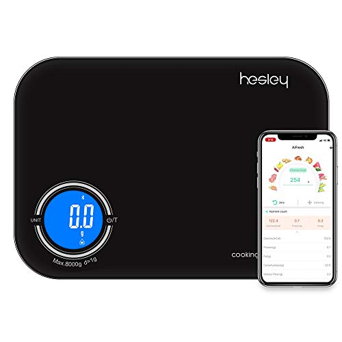 Hesley Kitchen Scale, Smart Food Scale,3 in 1 Function as Digital Kitchen/Coffee/Nutrition Scale...