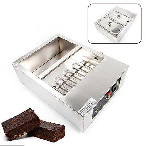 YiWon 1.5kw 2-Topf Elektrische Kommerzielle Schokolade Schmelzmaschine Schmelzgerät Schmelztiegel Thermostat Schokoladenschmelzgerät mit Deckel