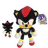 Sonic - Peluche Shadow The Hedgehog 11'80'/30cm Color Negro Calidad Super Soft