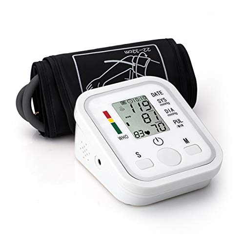 Blood Pressure Monitor Automatic Digital Upper Arm BP Cuff, 99-Reading Memory, 2-Users Mode, Speaker,Large LCD Display-Universal Cuff Size (S)