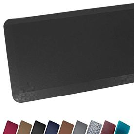 Anti Fatigue Comfort Floor Mat By Sky Mats -Commercial Grade Quality Perfect for Standup Desks, Kitchens, and Garages - Relieves Foot, Knee, and Back Pain (20x39x3/4-Inch, Black)