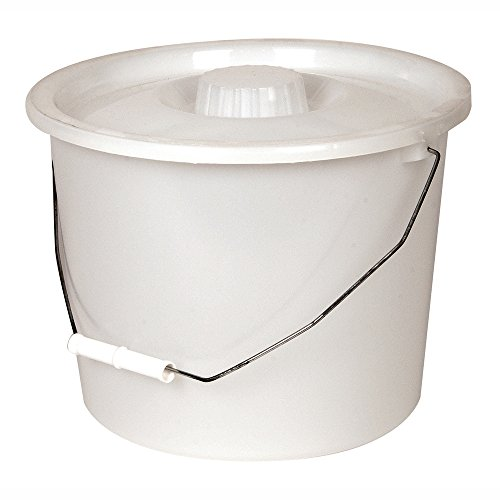 PCP Commode Bucket with Lid and Handle, Grey