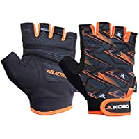 Silicone grip with padded palm for extra grip Adjustable hook & loop wrist closure for comfort fit Back hand of gloves made of soft fine durable material Full palm protection and stronger grip Pull off system on fingers for easily removing gloves Com...