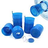 12 Pcs 3-5 Gallon Non Spill Cap Reusable Screw Top, Water Jug Lids Replacement 3 Gallon, Blue Anti-Splash Water Bottle Snap