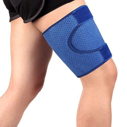 Haofy Fascia Elastica Coscia per Uomo e Donna, Tutore Coscia Compressione Regolabile Supporto per Prevenire o Curare Lesioni ai Muscoli della Coscia e Alleviare Efficacemente le Vene Varicose