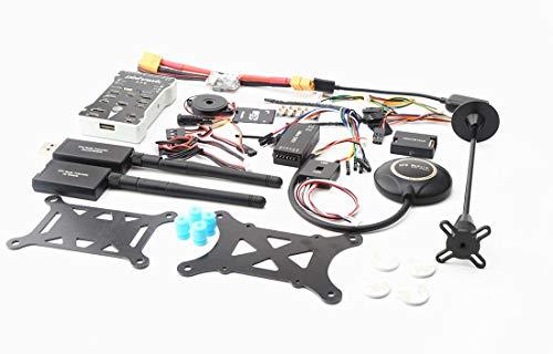 Regali natale,Accessori e Kit per Drone,Pixhawk PX4 PIX 2.4.8 Controller di volo a 32 bit + 433/915 Telemetria + M8N GPS + Minim OSD + PM + Interruttore di sicurezza + Buzzer + PPM + I2C bianco