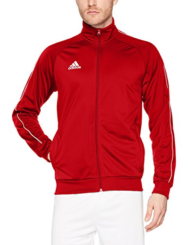 Adidas Core 18 TT, Giacca Uomo, Rosso (Power Red/White), L