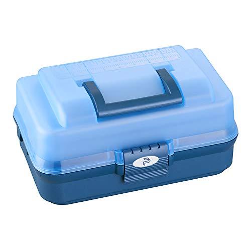 Plastica Panaro 143 blu, Valigetta pesca Unisex adulto, 336 x 198 x H165 mm