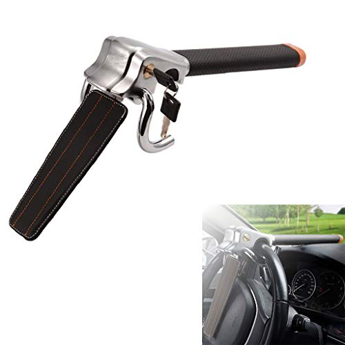 Beikal Car Steering Wheel Lock, Antitheft Locking Devices with Safety Hammer, Universal Fit for Cars, Light Trucks, Vans, and SUVs