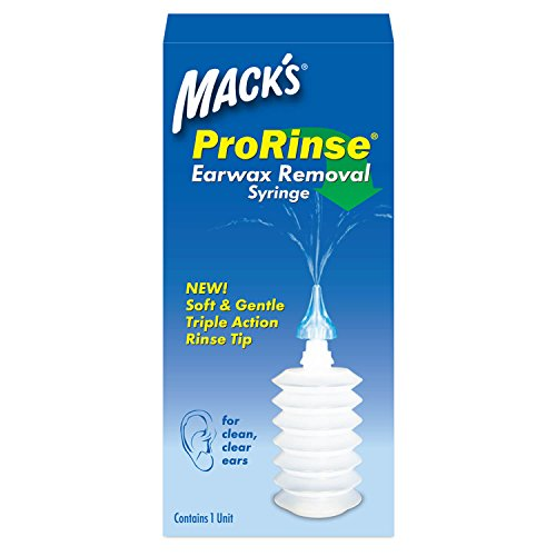 Mack's ProRinse Earwax Removal Syringe - Ear Syringe with Triple-Action Rinse Tip