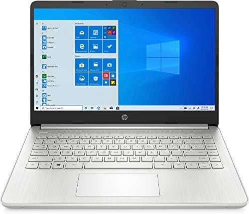 "HP - PC 14s-dq0041nl Notebook, Intel Celeron N4020, RAM 4 GB, SSD 128 GB, Grafica Intel UHD 600, Windows 10 Home Mode S, 14"" HD Antiriflesso, Webcam, USB-C, USB, HDMI, Micro SD/SD, Argento"