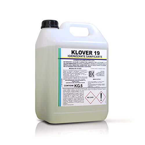 KLOVER 19 Detergente Igienizzante Sanificante a Base di Cloro Attivo al 2,2% H.A.C.C.P. Indicato per...