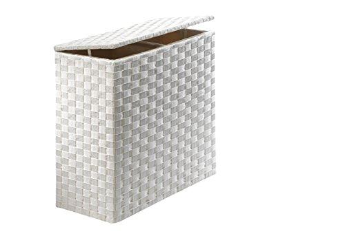 Kobolo Wäschesammler Wäschesortierer - Nylon - weiß - 125L - 2 Fächer