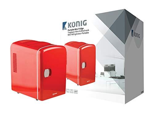 Knig KN-MF10 frigorifero Libera installazione Rosso 4 L