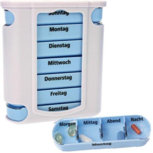 na-und® Pillendose 7 Tage Pillenbox Tablettendose Tablettenbox Tower