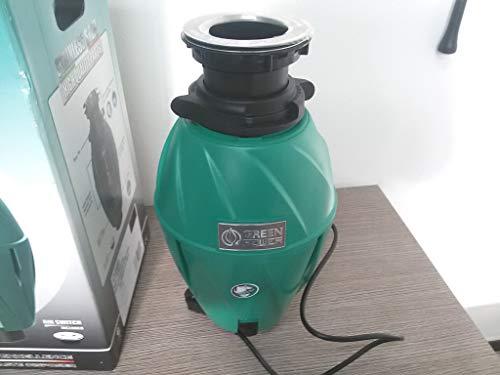 Elleci Green Power FWD500 Zerkleinerer für Küchenabfälle, Grün, Kapazität 1070ml, Leistung 375W, sehr leise, effektive Schalldämmung