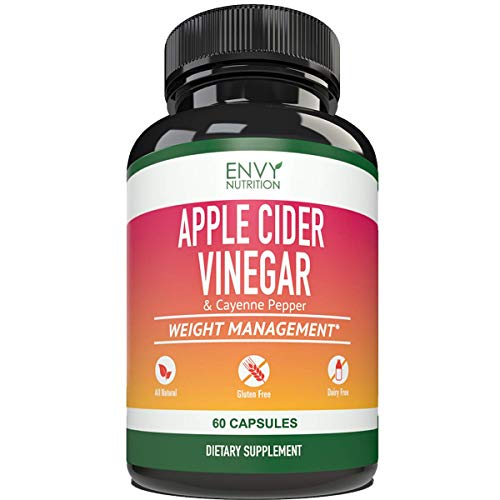 Apple Cider Vinegar Capsules - Supports Metabolism, Immunity, Gut Health, Blood Sugar Level and Heart Health - 60 Count 1
