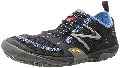 New Balance Women's Minimus 10 V1 Trail Running Shoe, Black/Blue, 8 W US
