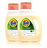 Tide Purclean Liquid Laundry Detergent, Unscented, Pack Of 2, 46 Fl Ounce Each, 2 Count