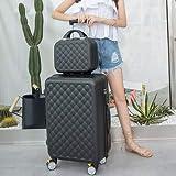HJTL - Maleta de equipaje con ruedas para embarque de mujer, maletín de transporte para equipaje de mano, bolsa de viaje, juego de 24 pulgadas