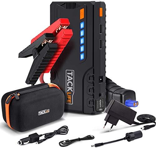TACKLIFE T6 Booster Batterie - 800A 18000mAh Portable Jump Starter, Démarrage de Voiture ( Jusqu'à 7.0L Essence 5.5L Gazole ), LED Lampe