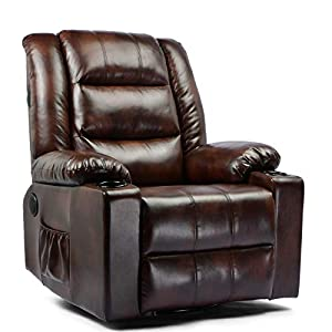 Relax Wonderful Chair :with reclining, speaker,rocking, massage, heated and swiveling features. recline features. Dimensions: 37.4 x 35.8 x 40.94 in. (length 63 in fully reclined position). Home Theater Seating: Enjoy the movie theater experience in ...