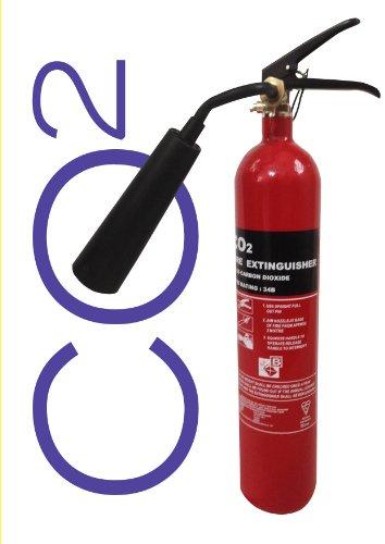 Estintore a CO2 da 2 kg Certificazione BSI Kitemark. Completamente testato e accreditato.