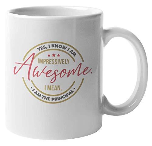 Awesome Principal Coffee & Tea Gift Mug for Boss, Chief, Guidance & Chair (11oz)