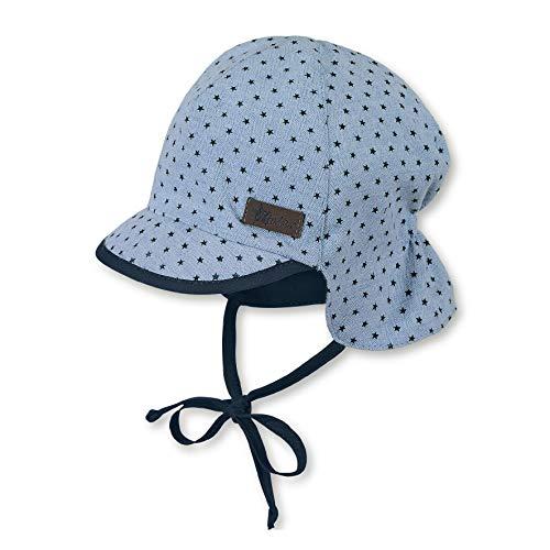 Sterntaler Schirmmütze für Jungen mit Bindebändern und Nackenschutz, Alter: 12-18 Monate, Größe: 49, Hellblau (Himmel)